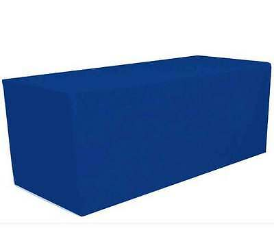 8' ft. Fitted Polyester Tablecloth Table Cover Wedding Banquet Party Royal Blue