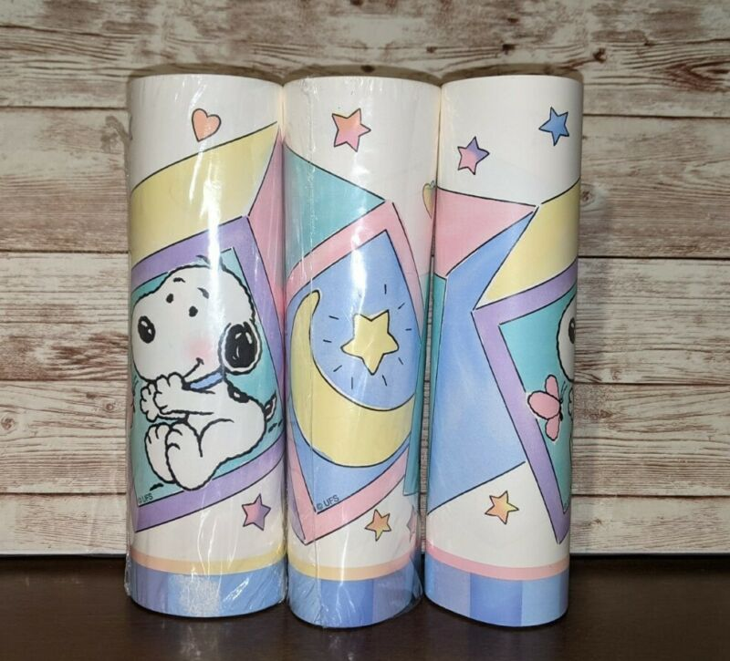 Lambs & Ivy Snoopy Wallpaper Border Baby Room Nursery Decor 2 Rolls + over 30