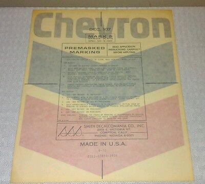 "VINTAGE CHEVRON OIL GAS DECAL ORIGINAL 1960s PUMP STATION STICKER SIGN 10x8.4"""