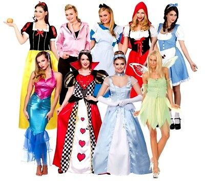 Adult CHARACTER STORY BOOK FAIRY TALE Fancy Dress Ladies Costume Princess - Storybook Characters Kostüm