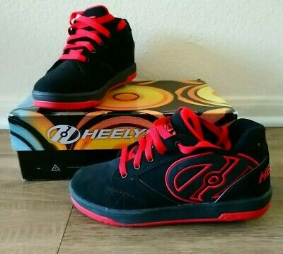 Heelys propel 2.0 size 6 youth black & red wheels shoes roller skate in box