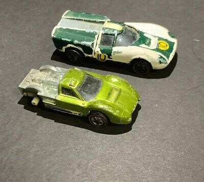 Vintage Hot Wheels Redlines Lot, Good For Parts 1967 Ford J-Car & 1968 Lola GT70
