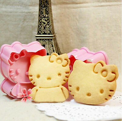 Hello kitty Cookie Fondant Cake Sugarcraft Choco Decorating Plunger Cutter Mold