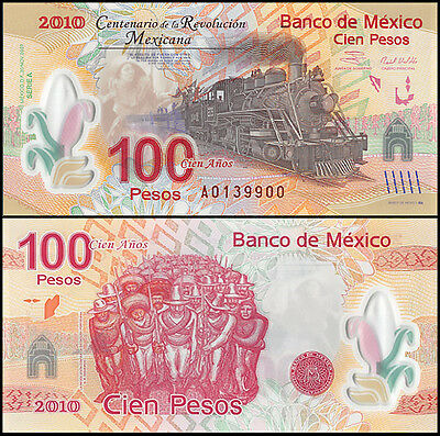 Mexico 100 Pesos Banknote, 2007, P-128, UNC, Series-A, Polymer Note