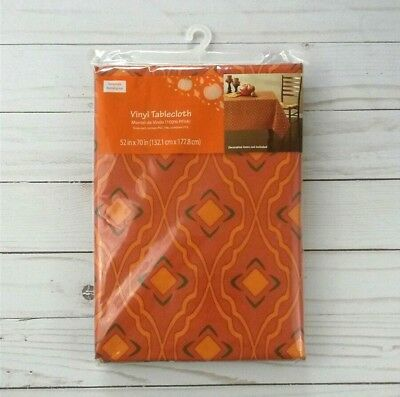 Vinyl Tablecloth 52 x 70 Fall Halloween Thanksgiving Camping Party - Thanksgiving Parties