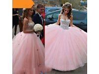 princess pink ball gown wedding dress size 8