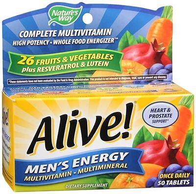 Alive  Tablets Mens Energy 50 Tablets