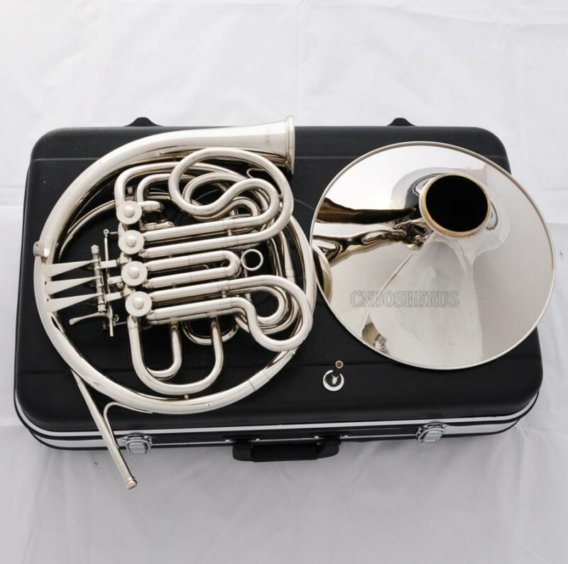 Professional Double French Horn Silver Nickel Plated F/Bb 4 Keys New Case
