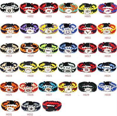 Football NFL US Team Umbrella Rope Wristband  Bracelets Bracelet-Pick Team (Team Umbrella)