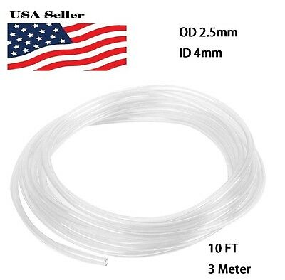 Clear 3 Meters 4mm Od 2.5mm Id 0.75mm Tube Tubing Pu Air Hose Pipe