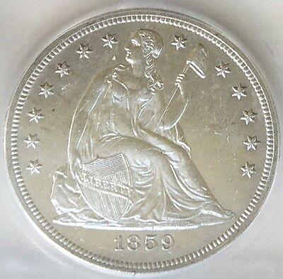 1859-S Seated Liberty Dollar ICG AU-58