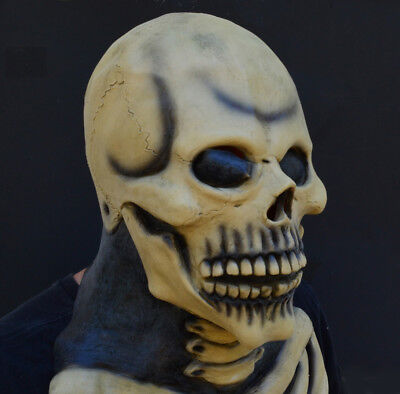Creepy Scary Halloween Costume Mask Rubber Latex - Skull Skeleton Mask - Halloween Scary Skull