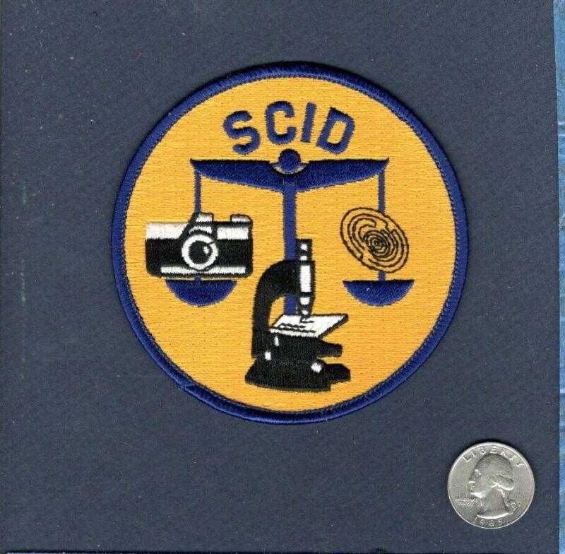 SCID South Carolina Investigative Dept Police Sheriff Crime Department Patch