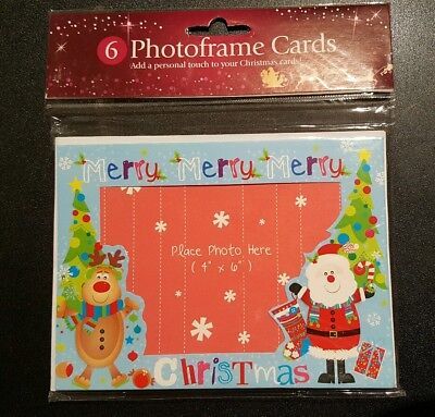 Make Your Halloween Photo (6 Make Your Own Christmas Photo Frame Cards kids activity personal lovely)