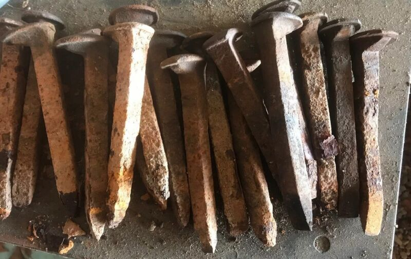 Lot Of 17 Vintage Railroad Spikes