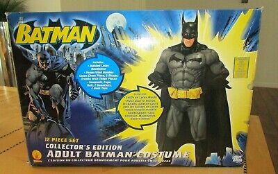 RUBIES BATMAN 12 PIECE COLLECTOR'S EDITION ADULT BATMAN COSTUME NIB
