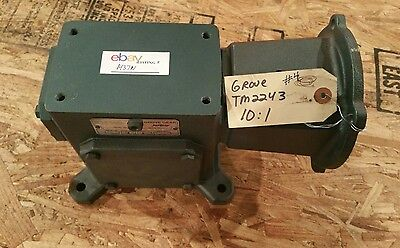 Grove Gear Flexaline Tm224-3 101 Worm Speed Reducer Gearbox 1437w