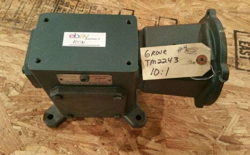 Grove Gear Flexaline  TM224-3 10:1 Worm Speed Reducer Gearbox #1437W