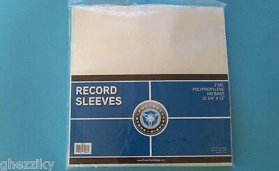 100 PLASTIC OUTER SLEEVES VINYL RECORD LP ALBUM PLASTIC COVERS ()
