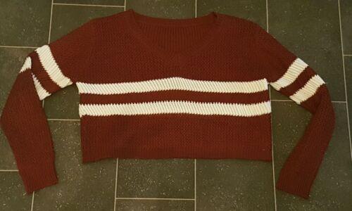Damen Strick Pullover  kurzer Pulli Crop gr S/M