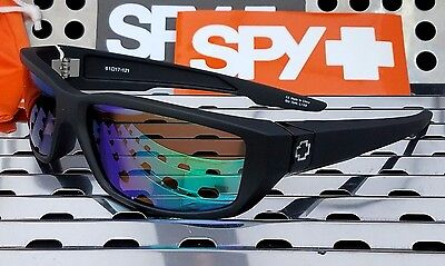 New Spy 670937374811 Dirty Mo Sunglasses Matte Black W  Green Spectra Lenses