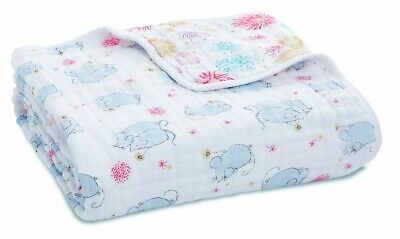"Aden & Anais Classic Dream Cotton Muslin 47""x47"" Baby Blanket Year of The Mouse"