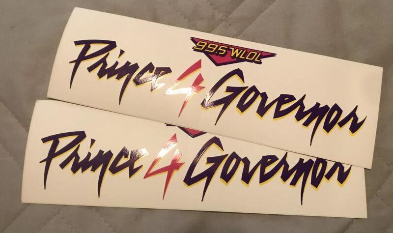 Prince 4 Governor Bumper Sticker 2-pack