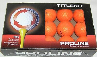 15 Titleist Velocity balls Orange grade AAAAA Best 5A balls LOT (Best Orange Golf Balls)