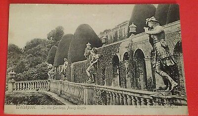 VINTAGE POSTCARD - WELSHPOOL, IN THE GARDENS, POWIS CASTLE - Early 1900's.