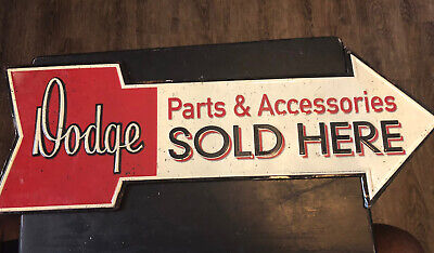 DODGE Parts And Accessories Metal Sign 24 X 9 Used Hobby Lobby Home Accents