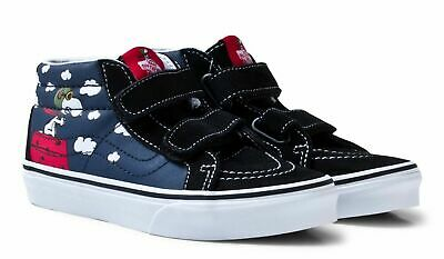 Vans X Peanuts Sk8 Mid Reissue Flying Ace Sizes: 3.5 T - 7.5 T / 1, 2, 3, 4 Kids