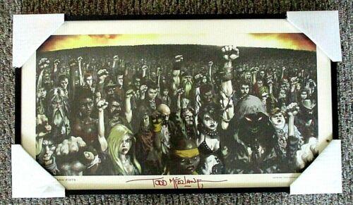 Disturbed 10,000 FISTS, Original Artwork, Framed Poster, Signed By Artist (2002)