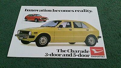 1979 DAIHATSU CHARADE UK LAUNCH COLOUR LEAFLET - BROCHURE