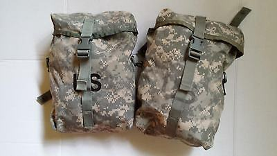 Sustainment Pouches MOLLE II ACU CAMO US ARMY Set Of 2 Good Condition