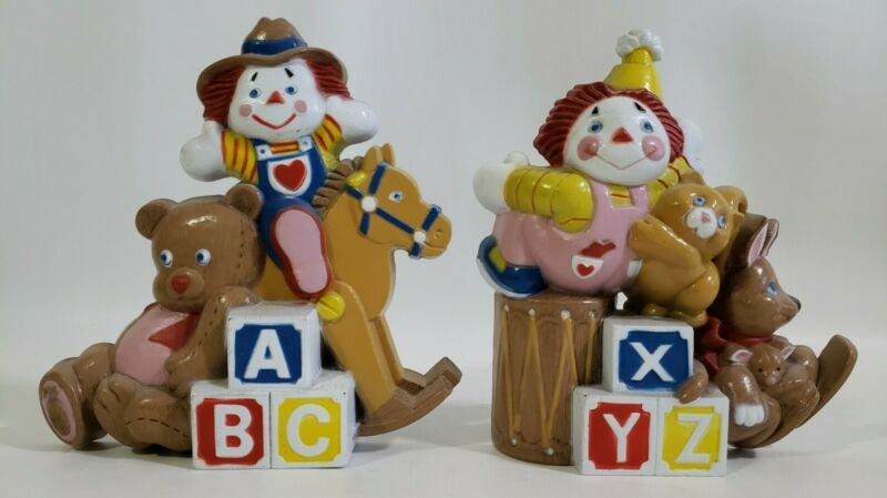 Burwood Vintage Raggedy Clown Nursery Wall Hangings Kangaroo Rocking Horse