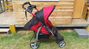 Stroller (3 wheel - lays flat, cup holder) North Ryde Ryde Area Preview