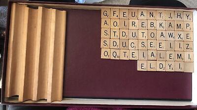 1953 Scrabble Board Game Selchow RighterWooden Racks 56 Letters Original Box