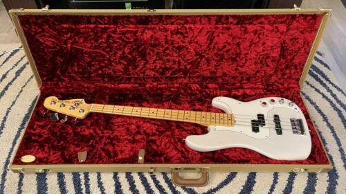 2015 Fender American Deluxe Precision Bass White Blonde Ash UPGRADES G&G USA PJ
