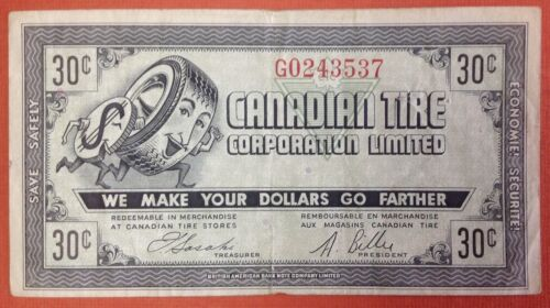 Canadian Tire Coupon 30c CTC -6 F G 02433537
