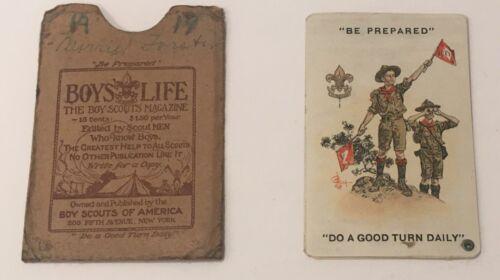 Boy Scout Membership Card Celluloid 1916 1919 BSA
