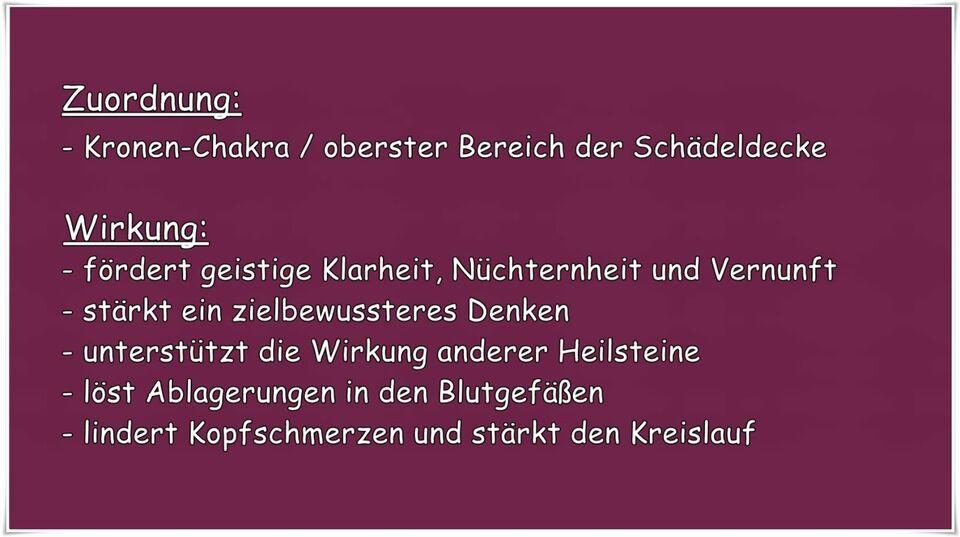 Bergkristall / Chakren-Stein / Seifenstein / Heilstein in Tegernheim