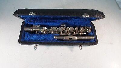Piccolo Querflöte Flautín flûte Piccolo silber 35 Jahre alt Made in China Punzen