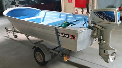 Sea AL 3.8m dory with 30hp suzuki