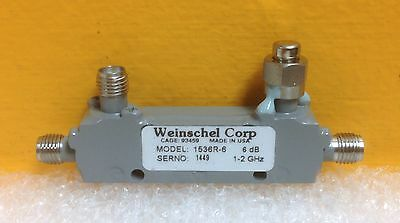 Weinschel 1536r-6 1.0 To 2.0 Ghz 6 Db Sma F-f-f Mini Directional Coupler