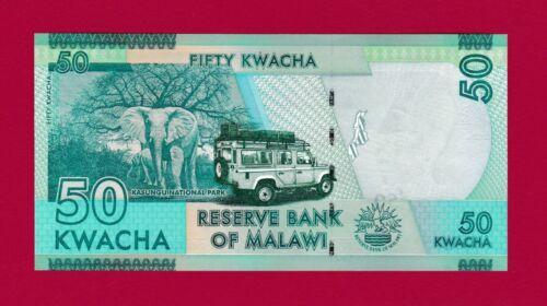 MALAWI UNC BEAUTIFUL BANKNOTE: 50 KWACHA 2016 (P64c) PRINTER: DE LA RUE, ENGLAND