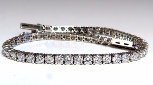5.18ct Natural Diamonds Tennis Bracelet 14kt G/vs 7 Inch 54 Count