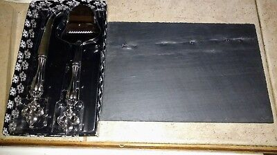 2 Piece Cheese Board (Slate Cheese Cutting Board, 2 Piece Serving Cheese Board Set )