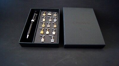 TOYOTA CROWN UNIVERSITY Emblems & Pen. Very Rare Accessory