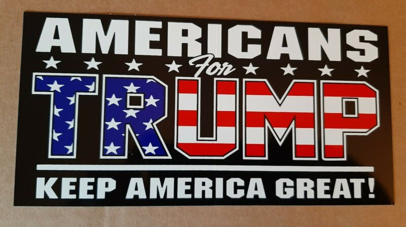 AMERICANS FOR TRUMP KEEP AMERICA FIRST BUMPER STICKER