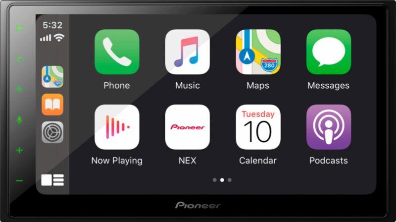 "Pioneer - Multimedia Receiver with 6.8"" WVGA Display - Black"